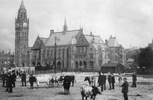 Rochdale Town Hall after the fire