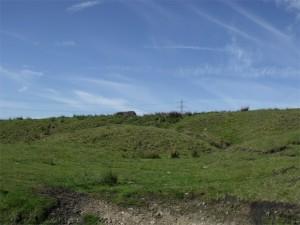 Circular mound below the Monstone
