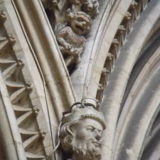 Turned to stone by an angel, the imp still resides within the cathedral