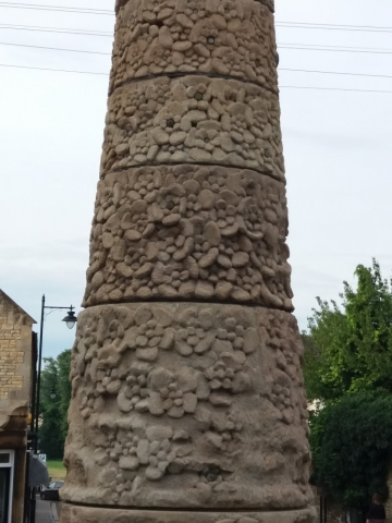 The last remaining fragment of the Stamford is a carving of a rose